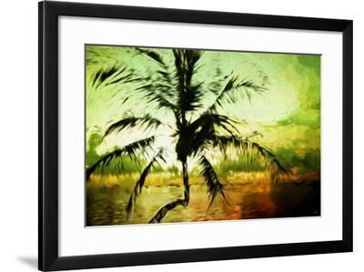 Tropical Sunset III - In the Style of Oil Painting-Philippe Hugonnard-Framed Giclee Print