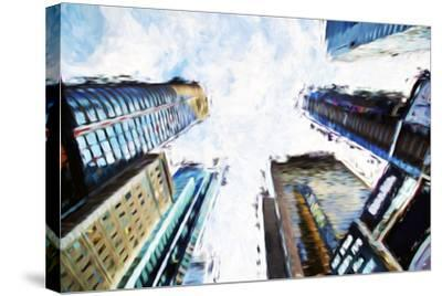 Times Square Buildings II - In the Style of Oil Painting-Philippe Hugonnard-Stretched Canvas Print