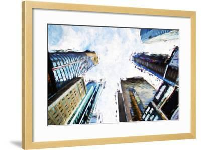 Times Square Buildings II - In the Style of Oil Painting-Philippe Hugonnard-Framed Giclee Print