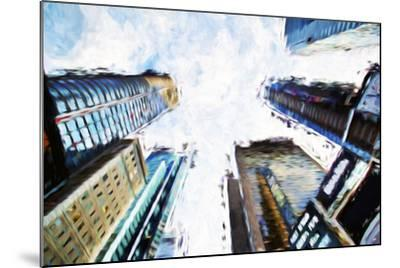 Times Square Buildings II - In the Style of Oil Painting-Philippe Hugonnard-Mounted Giclee Print