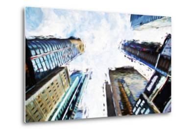 Times Square Buildings II - In the Style of Oil Painting-Philippe Hugonnard-Metal Print