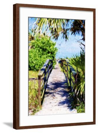 Way to the Beach - In the Style of Oil Painting-Philippe Hugonnard-Framed Giclee Print