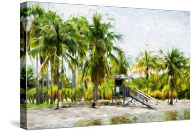 Life Guard Station II - In the Style of Oil Painting-Philippe Hugonnard-Stretched Canvas Print