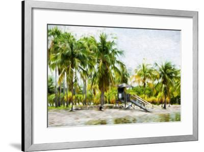 Life Guard Station II - In the Style of Oil Painting-Philippe Hugonnard-Framed Giclee Print