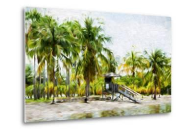 Life Guard Station II - In the Style of Oil Painting-Philippe Hugonnard-Metal Print