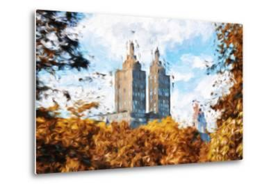 Fall Foliage in Central Park II - In the Style of Oil Painting-Philippe Hugonnard-Metal Print