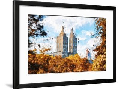 Fall Foliage in Central Park II - In the Style of Oil Painting-Philippe Hugonnard-Framed Giclee Print