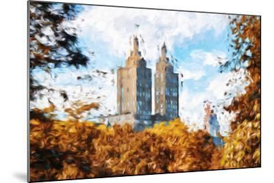 Fall Foliage in Central Park II - In the Style of Oil Painting-Philippe Hugonnard-Mounted Giclee Print