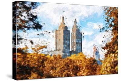 Fall Foliage in Central Park II - In the Style of Oil Painting-Philippe Hugonnard-Stretched Canvas Print