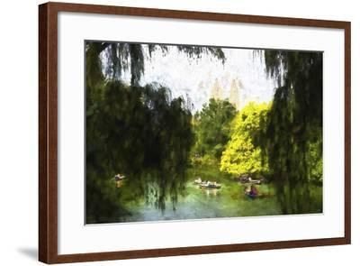 Relaxing at Central Park-Philippe Hugonnard-Framed Giclee Print