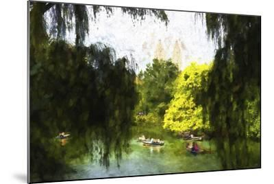 Relaxing at Central Park-Philippe Hugonnard-Mounted Giclee Print