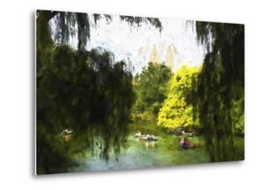 Relaxing at Central Park-Philippe Hugonnard-Metal Print
