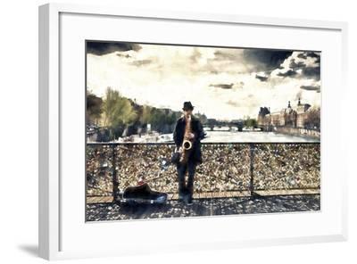 Saxophonist Paris-Philippe Hugonnard-Framed Giclee Print