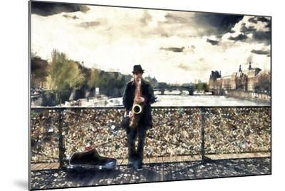 Saxophonist Paris-Philippe Hugonnard-Mounted Giclee Print