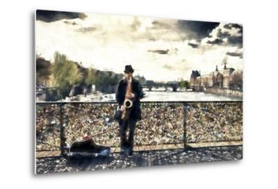 Saxophonist Paris-Philippe Hugonnard-Metal Print