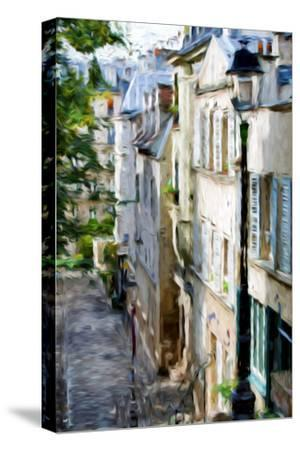 Montmartre Street II - In the Style of Oil Painting-Philippe Hugonnard-Stretched Canvas Print