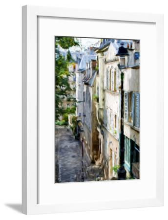 Montmartre Street II - In the Style of Oil Painting-Philippe Hugonnard-Framed Giclee Print