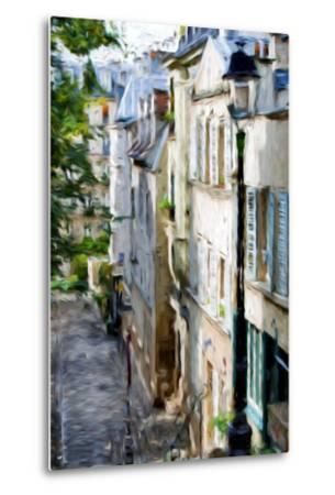 Montmartre Street II - In the Style of Oil Painting-Philippe Hugonnard-Metal Print