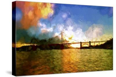 Watercolor Golden Gate Bridge II-Philippe Hugonnard-Stretched Canvas Print