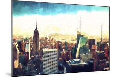 New York Cityscape IV-Philippe Hugonnard-Mounted Giclee Print