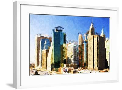 First City - In the Style of Oil Painting-Philippe Hugonnard-Framed Giclee Print
