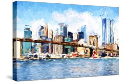 Manhattan Island - In the Style of Oil Painting-Philippe Hugonnard-Stretched Canvas Print