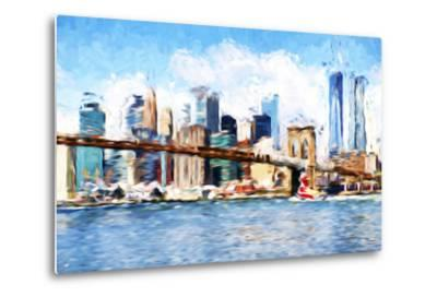 Manhattan Island - In the Style of Oil Painting-Philippe Hugonnard-Metal Print