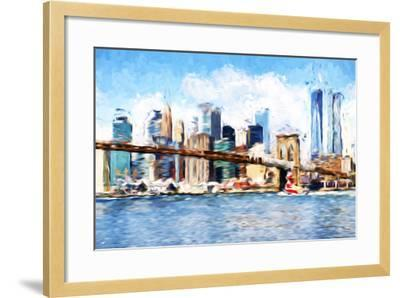 Manhattan Island - In the Style of Oil Painting-Philippe Hugonnard-Framed Giclee Print