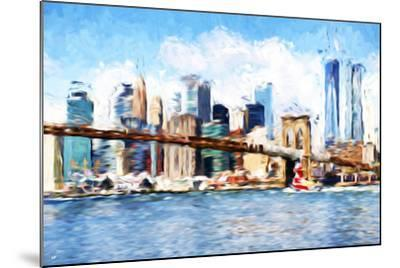 Manhattan Island - In the Style of Oil Painting-Philippe Hugonnard-Mounted Giclee Print