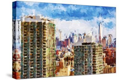 New York Skyline V - In the Style of Oil Painting-Philippe Hugonnard-Stretched Canvas Print