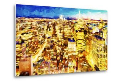 NYC Nightscape II - In the Style of Oil Painting-Philippe Hugonnard-Metal Print