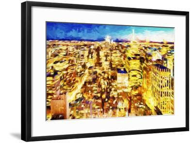 NYC Nightscape II - In the Style of Oil Painting-Philippe Hugonnard-Framed Giclee Print
