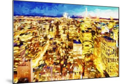 NYC Nightscape II - In the Style of Oil Painting-Philippe Hugonnard-Mounted Giclee Print