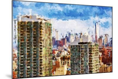 New York Skyline V - In the Style of Oil Painting-Philippe Hugonnard-Mounted Giclee Print