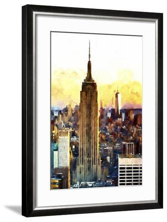 1WTC & Empire State II-Philippe Hugonnard-Framed Giclee Print