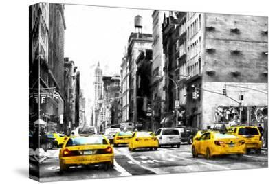 NYC Taxi Cabs-Philippe Hugonnard-Stretched Canvas Print