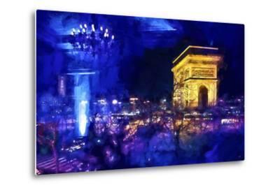 Blue Night in Paris-Philippe Hugonnard-Metal Print