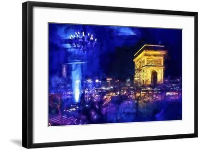Blue Night in Paris-Philippe Hugonnard-Framed Giclee Print