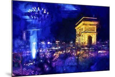 Blue Night in Paris-Philippe Hugonnard-Mounted Giclee Print