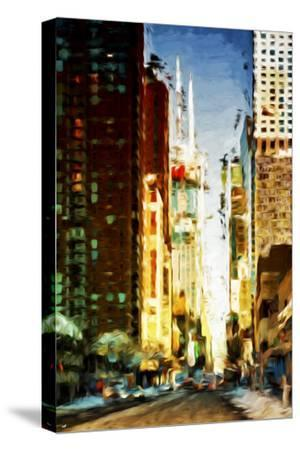 Colors City - In the Style of Oil Painting-Philippe Hugonnard-Stretched Canvas Print