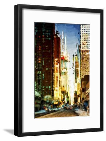 Colors City - In the Style of Oil Painting-Philippe Hugonnard-Framed Giclee Print