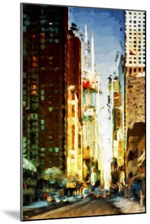 Colors City - In the Style of Oil Painting-Philippe Hugonnard-Mounted Giclee Print