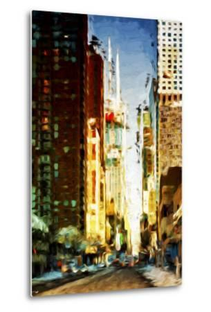 Colors City - In the Style of Oil Painting-Philippe Hugonnard-Metal Print