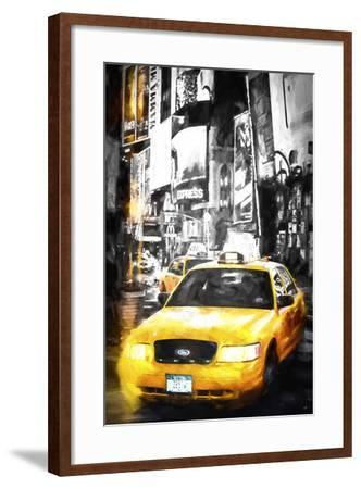Yellow Taxi-Philippe Hugonnard-Framed Giclee Print