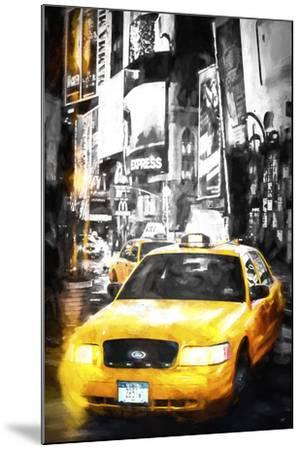Yellow Taxi-Philippe Hugonnard-Mounted Giclee Print