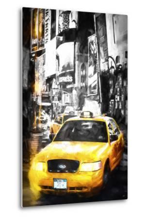 Yellow Taxi-Philippe Hugonnard-Metal Print