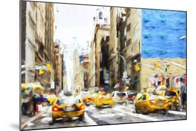 NYC Taxis - In the Style of Oil Painting-Philippe Hugonnard-Mounted Giclee Print