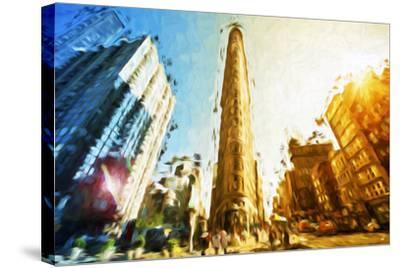 Flatiron Building II - In the Style of Oil Painting-Philippe Hugonnard-Stretched Canvas Print
