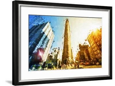 Flatiron Building II - In the Style of Oil Painting-Philippe Hugonnard-Framed Giclee Print