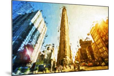 Flatiron Building II - In the Style of Oil Painting-Philippe Hugonnard-Mounted Giclee Print